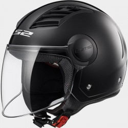 Casco jet LS2 Airflow OF562 Negro mate