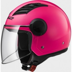 Casco jet LS2 Airflow OF562 Rosa