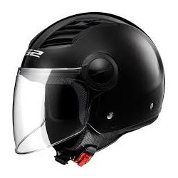 Casco jet LS2 Airflow OF562 Negro brillo
