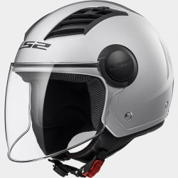 Casco jet LS2 Airflow OF562 Plata