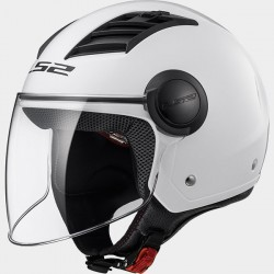 Casco jet LS2 Airflow OF562 Blanco