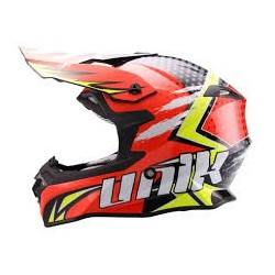 CASCO CROSS UNIK CX-14 SPEED NARANJA/AMAR. FLUOR
