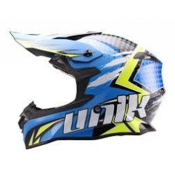 CASCO CROSS UNIK CX-14 SPEED AZUL/AMARILLO FLUOR