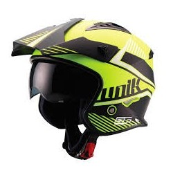 Casco Trial Unik CT-07 Amarillo fluor/Negro mate