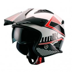 Casco Trial Unik CT-07 Blanco/Negro
