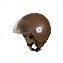 Casco jet UNIK CJ-06 PIEL MARRON