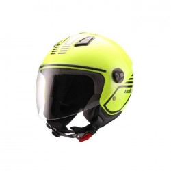 Casco Unik CJ-16 Mode , Amarillo Flúor-negro