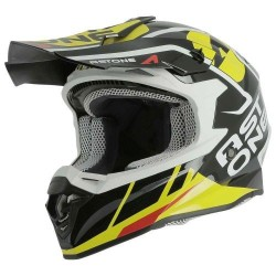 Casco Astone MX800 Trophy gloss Negro-amarillo