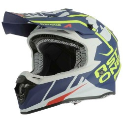 Casco Astone MX800 Trophy gloss blanco-azul mate