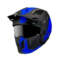 Casco MT Streetfighter SV Twin Azul mate